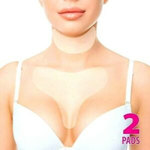 Results After 1st Use Invisible Decollete Pad for Cleavage Wrinkle Prevention Chest Pad by DoSensePro Hypoallergenic Anti-Wrinkles Patch Reusable Anti-Aging Sticker to Prevent Lines