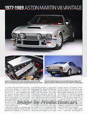 Aston Martin V8 Vantage 1977 1986 1989 1980 Car Review Report Print Article J829