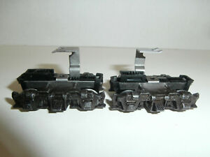 2 HO Athearn Cast Metal Blomberg Geared Drive Trucks for F7 Drives, Parts