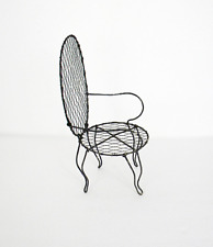 Vintage Wire Mesh Doll Chair or Plant Holder