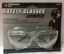 Performance Tool Clear Lens Frame Construction, Safety Shooting Glasses W1033