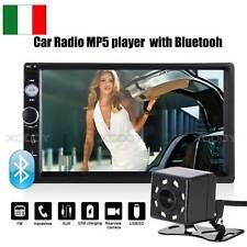 "7"" AUTORADIO 2DIN STEREO MP5 MP3 LETTORE FM USB BLUETOOTH AUTO 8LED TELECAMERA"