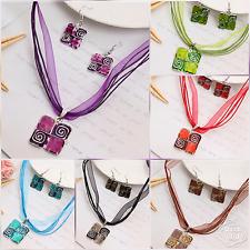 drop dangle earring necklace set Jj25 New silver festival bridal gift jewellery
