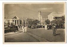 Vintage RPPC Postcard Caracao N.W.I. Police Station Hall Netherlands Antilles