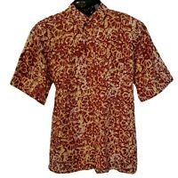 African Men Red and Yellow Collar Shirt