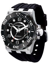 Jorg Gray JG9600-12 Mens Watch Black Dial Swiss Movement Black Rubber Strap