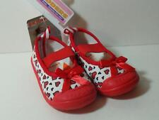 New Girl's Skidders Red Mary Janes Shoes w/ Hearts, Sz 18M  ~ Shoe Sz 6