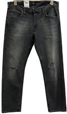 Men's LEE Daren Jeans regular 36 x 32 Black Distressed New Button Fly