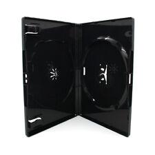 200 x 2 Fach AMARAY DVD Hüllen für 2 CD / DVD Hülle | 14mm Schwarz Doppelseitig