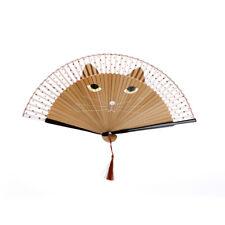 Japonais cosplay soie bambou main tenue dessin animé chat pliage cadeau Party LC