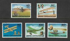 CENTRAL AFRICAN EMPIRE 1978 Aviation Pioneers, Planes, set of 5, CTO