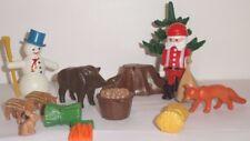 Playmobil - NOEL - Père Noël , animaux, sapin, bonhomme de neige, sac de jouet