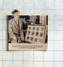 1937 Mr Ep Chance With Some Of 25,000 Peregrine Falcon Eggs, Burchett's Green