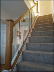 Solution Glass With Slotted Oak Handrail Kit Quality Uk Manufactured!