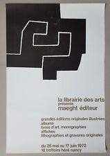 Eduardo Chillida: Librairie des Arts Nancy Plakat Poster Affiche Maeght 1972