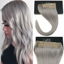 Sunny One Piece Invisible Halo Hair Remy Human Hair Extensions Wire Blonde Grey
