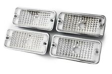 (4) 68-72 Chevy Truck Custom Clear Side Euro Marker Light Lamps Set 67