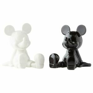 Disney Black and White Mickey Mouse Salt and Pepper Shaker Set