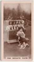 Young Girl Posing WIth Spaniel Mother And Puppy Litter 1930s Trade Ad Card