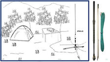 Yaesu ATAS-25 Field Antenna radio FT-100 FT-847 FT-857 FT-897 FT-897D FT-817