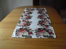 Tischdecke,Tischläufer, Mitteldecke,  Nostalgie-Rosen  Satinoptik, Fotodruck