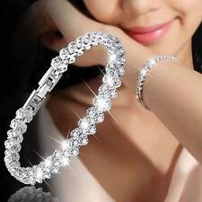 Luxury Women Chain Zircon Crystal Bangle Rhinestone Bracelet Wedding Jewelry New