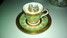 LOVELY HOMER LAUGHLINE EGGSHELL TEA CUP AND SAUCER SET COLONIAL DESIGN