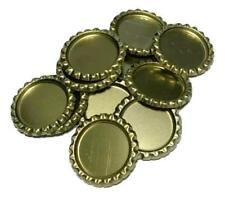 10 pcs. Gold flattened bottle caps
