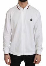 DOLCE & GABBANA Sweater Crown Logo Cotton Zip Up Jacket IT50/ US40 / L