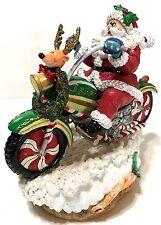 2004 Fitz & Floyd Adventures of Santa Claus on Motorcycle Plays Jingle Bells