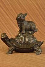 Signed Original Western  Chinese Culture Life Longevity Bronze Sculpture Sale