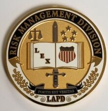 LAPD Los Angeles Police Department RISK MANAGEMENT DIVISION RMG Coin