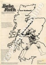 Babe Ruth Bowmore Halls, Islay MM3 Tour advert 1973