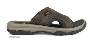 Teva Langdon Slide Walnut Leather Sandals Mens Size 11 *NIB*