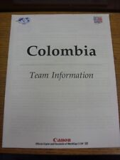 24/06/1994 World Cup: USA 94 - Columbia - Official FIFA Press Pack/Team Informat