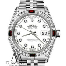 Ladies Rolex 26mm Datejust White Color Dial with Ruby & Diamond Accent RT Watch