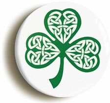 IRELAND BADGE BUTTON PIN (Size is 1inch/25mm diameter) ÉIRE IRISH FLAG SHAMROCK