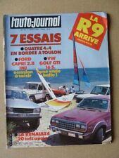 Auto-Journal n°13-81, Renault 4 Jogging, Volkswagen Golf GTI 16S, Ford Capri 2.8