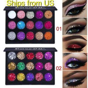 Glitter Eyeshadow 15 Colors Matte Makeup Kit Shimmer Eye Shadow Powder Palette