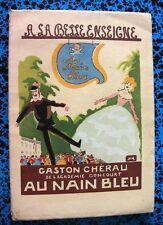 1930 AU NAIN BLEU GASTON CHEREAU GONCOURT LIVRE ILLUSTRE N°899 REINE COUR AMOUR