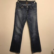 7 For All Mankind Distressed Denim Jeans Women's Bootcut Sz 26