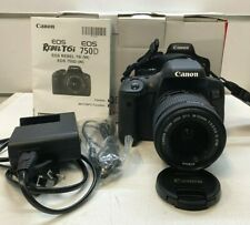 Canon EOS 750D Digital SLR Camera + 18-55mm Zoom Lens and Accessories - From $1