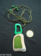 collana alluminio resina legno pendolo ciondolo greenery regolabile bigiotteria