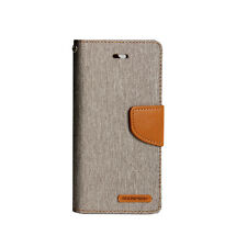 iPhone 7 6s Plus Mercury Goospery Denim Canvas Gel Wallet Flip Card Case