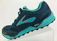Brooks Cascadia 7 Trail Running Shoes Blue Training Sneakers Womens US 7.5 B