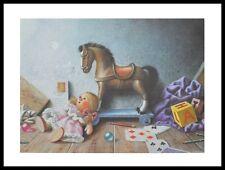 Wahed Khakdan Die Reise in die Kinderzeit Poster Kunstdruck und Rahmen 50x60cm