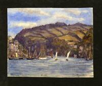 C.A. Grove - 1892 Watercolour - Dartmouth