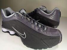 Nike Shox R4 Black Dark Grey Silver White Very Rare SZ 10 (104265-090)
