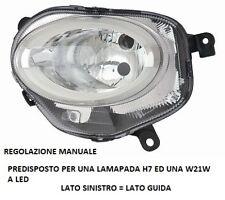 FARO FANALE ANTERIORE REGOLAZIONE MANUALE A LED SINISTRO 10711  FIAT 500 2015