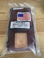 New listing Dart Master Case Double Case Holds 2 Sets Of Darts BURGUNDY color